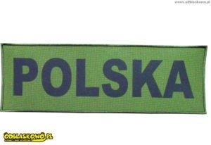 Naszywka napis polska na tle khaki