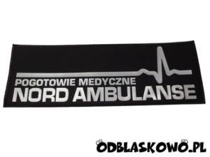 Naszywka nord ambulanse czarne tło