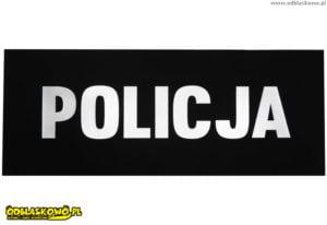 Naszywka odblask policja czarne tło