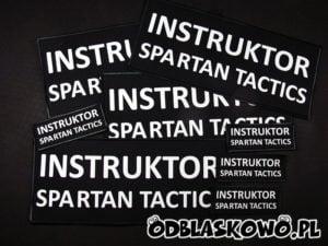 Odblaskowa naszywka instruktor spartan czarna