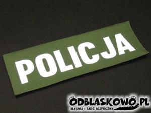 Naszywka odblaskowa khaki policja