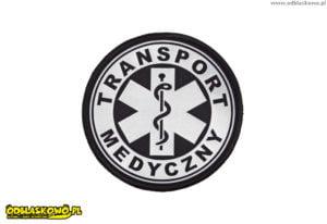 Naszywka odblaskowa napis transport medyczny