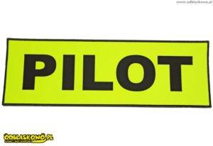 Naszywka odblaskowa żółta z napisem pilot