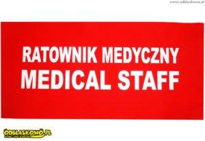 Naszywka ratownik medyczny odblaskowa czerwona