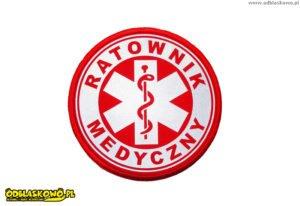 Naszywka w kółku czerwona ratownik medyczny