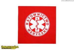 Naszywki odblaskowe czerwone ratownictwo medyczne