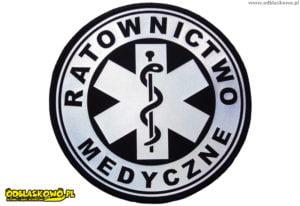 Naszywki odblaskowe kółko ratownictwo medyczne
