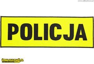 Naszywki odblaskowe policja żółte tło