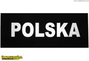 Naszywki odblaskowe polska czarne tło