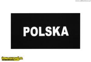 Naszywki odblaskowe polska na czarnym