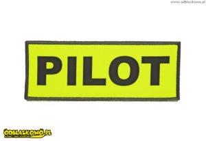 Naszywki odblaskowe z napisem pilot