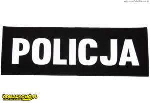 Naszywki odblaskowe z napisem policja