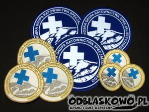 Naszywki z haftem karkonowska grupa ratownictwa specjalistycznego
