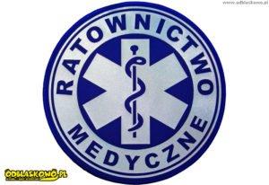 Naszywki odblaskowe ratownictwa medycznego