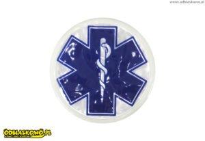 Niebieski eskulap emblemat odblaskowy