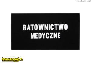 Odblask naszywka z napisem ratownictwo medyczne