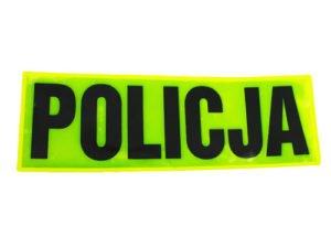 Odblask napis policja