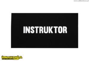 Odblaskowa naszywka instruktor czarne tło