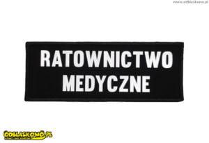 Odblaskowe naszywki z napisem ratownictwo medyczne