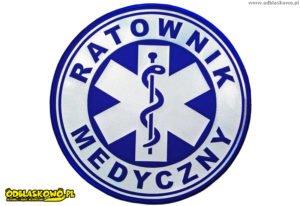 Odblaskowy emblemat kółko niebieskie ratownik medyczny
