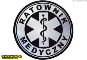 Okrągła naszywka ratownik medyczny odblaskowy