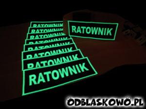 Opaska fluorescencyjna z napisem