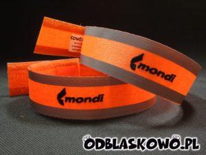 Opaska haft pomarańczowa z napisem mondi