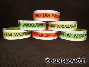 Opaska haft odblaskowa kurier UM Wrocławia