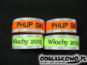 Opaska haft różna kolory odblaskowa phup ski/ Włochy 2015