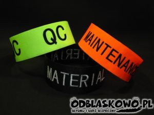 Opaska w różnym kolorze haft qc maintenance material
