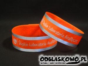 Pomarańczowa opaska haft śląskie laboratoria analityczne