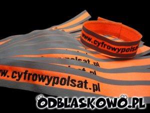 Odblaskowa opaska cyfrowy polsat