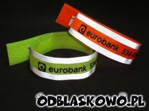 Opaska w kolorze odblaskowa eurobank