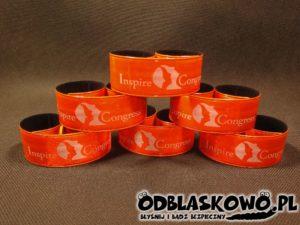 Opaska pomarańczowa odblaskowa inspire congress