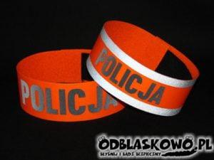 Opaska pomarańczowa haft policja