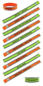 Opaski różne odblaskowe z napisami
