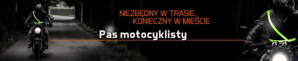 Pas odblaskowy dla motocyklisty