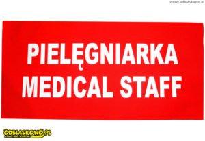 Pielęgniarka medical staff naszywka odblaskowa