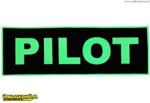 Pilot zielony na naszywce odblaskowej czarnej
