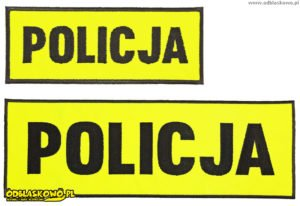 Policja odblask na żółtej naszywce