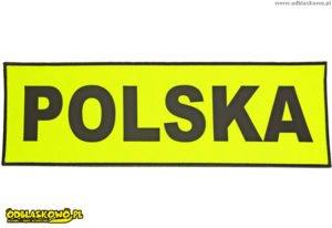Polska odblaskowa żółte tło