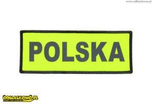 Polska żółta naszywka odblaskowa