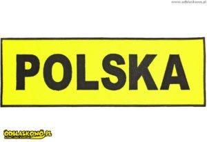 Polska żółte tło naszywka