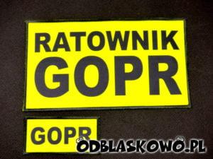 Ratownik GOPR naszywka żółta