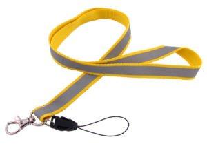 Smyczka odblaskowa żółta