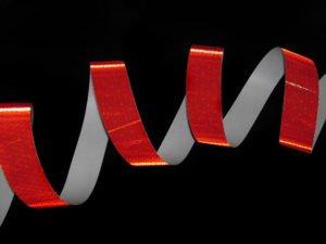 Taśma reflexite czerwona przykład 2