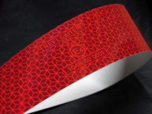 Taśma reflexite czerwona 3