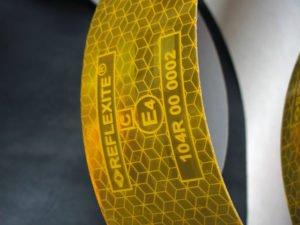 Taśma reflexite żółta 3